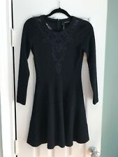 The Kooples Navy Fit And Flare Dress With Lace Inset, Size XS