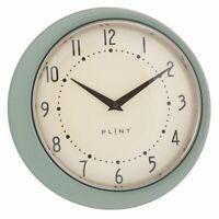 Vintage Uhr Plint Küchenuhr Retro Wanduhr MINT Ø 23cm Shabby  Landhaus Metall