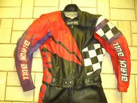 italy vintage Giudici Motorrad Rennanzug black bull Lederkombi Vollederkombi
