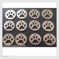 12 Animal Cat Dog Paw Prints Charms Jewelry Making Earrings Bracelets Q3