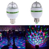 3W E27/B22 RGB Rotating LED Bulb 3W Party Light Crystal Ball DJ Disco Laser Lamp