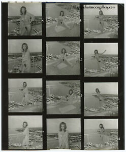 Bunny Yeager Pin-Up Contact Sheet Photograph Nude Model Cary Hayden Biscayne Bay