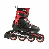 Rollerblade USA Microblade Unisex Adjustable Fitness Inline Skate, Large, Red