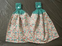(2) Set Pioneer Woman Crochet Top Cotton Kitchen Towels Gorgeous Garden