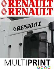 2 x Renault Lorry Door Truck Vinyl Sticker Decal Cab HGV Trucker FREE P&P LOR20