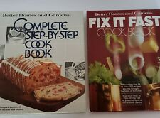 Better Homes and Gardens Fix It Fast and complete step by step Cook Books 1979