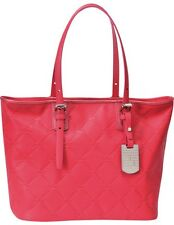 LONGCHAMP LM Cuir Large Tote Pink Rose Bag Leather Handbag Purse Logo NEW