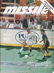 1989 Los Angeles Lazers vs Baltimore Blast MISL Soccer Program - Steve Kinsey