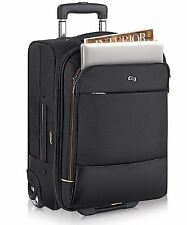 "Solo 15.6"" Laptop / MacBook Pro Black Overnight Wheeled Carrry On Travel Bag New"