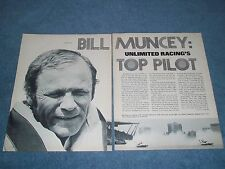 "1977 Profile Article on Unlimited Hydroplane Boat Racer Bill Muncey ""Top Pilot"""
