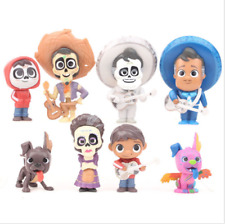 COCO Miguel Hector Rivera Dog Action Figrue 8 PCS Kid Doll Gift Cake Topper Toys