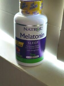 Natrol 5mg 150 Tablets Time Release Stress Anxiety Sleep Longer Faster