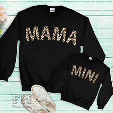 Mama and Mini Matching Sweatshirt Sweater Mum Daughter Outfits Mothers Day Gifts