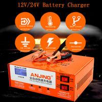 12V/24V Portable Smart Car Vehicle Van Lead Acid Battery Charger Jump Starter