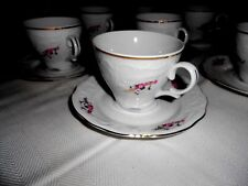 Menuet Poland Royal Vienna Collection Cups and Saucers (8 Sets) - Excellent