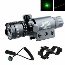 Tactical Hunting rifle Green Laser Sight Dot Scope Adjustable W/Mount light Guns