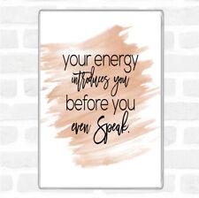 Watercolour Your Energy Quote Jumbo Fridge Magnet
