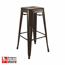 Replica Xavier Pauchard Tolix Metal Stool (76cm) - Chocolate