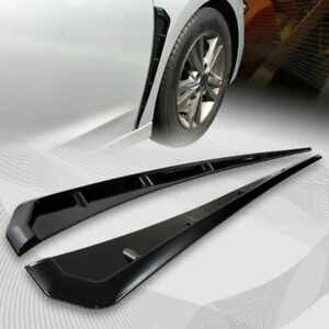 2x Universal Glossy Black Car Side Fender Vent Air Wing Cover Trim Decoration