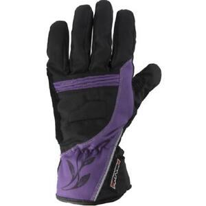 Rayven Diamond Ladies Motorcycle Motorbike Gloves Purple - Medium