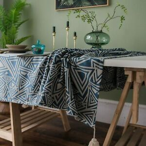 Wedding Waterproof PVC Geometric Table Cover Home Textile Rectangular Tablecloth