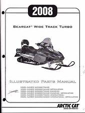 2008 ARCTIC CAT BEARCAT WIDE TRACK TURBO PARTS MANUAL NEW P/N 2257-982  (424)