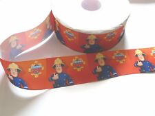 Cake Craft RIBBON Decoration Birthday Decorating- 50mm - FIREMAN SAM red - 1m