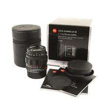 LEICA LEITZ 50MM F1.4 SUMMILUX-M ASPH LIMITED EDITION MATT BLACK + BOX 11688