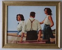 Young Hearts by Jack Vettriano Framed Canvas Effect Print 55cm x 42cm Art