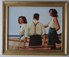 Young Hearts by Jack Vettriano Framed Canvas Effect Print 54cm x 44cm Art