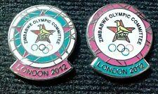 2012 LONDON OLYMPIC ZIMBABWE NOC 2 PINS