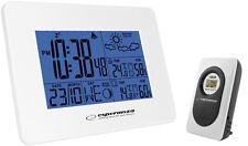Wetterstation mit Außenfühler Thermometer Uhr