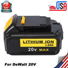 For DeWalt DCB204 20V MAX Li-Ion 4.0Ah Battery DCB200 LED LIGHT Free shipping US