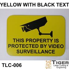 SECURITY CCTV WARNING SIGN - VIDEO SURVEILLANCE SIGN 10CM X 7CM YELLOW/BLACK