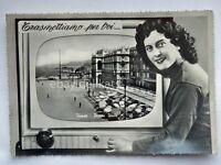 TRIESTE Piazza Unità TV televisione vecchia cartolina *