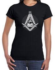226 Illuminati womens t-shirt free mason secret society elites funny vintage new