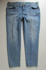 Eileen Fisher Mid Rise Skinny Ankle Organic Cotton Jean, Medium Wash - Size 12