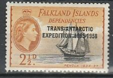 1956 FALKLANDS ISLANDS DEPENDENCIES 2.1/2d o/w TRANSANTARTIC EXPED S G 42 M/MINT