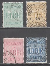 Italy Stamps #J21-J24 - Postage Due Set - 1884 - Used