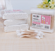 100pcs Cotton Buds Double Head Swab Makeup Wood Sticks Facial Skin Care Tools