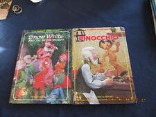2 board PUPPET STORYBOOK SNOW WHITE 1968 PINOCCHIO 1970 Izawa Hijikata