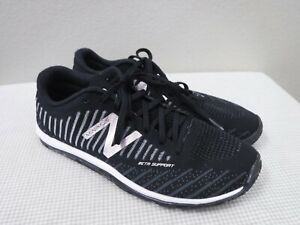 NEW BALANCE MINIMUS 9.5 41 Black Silver Mesh Lace Up Fitness Exercise Sneakers