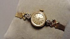 """Tissot Diamond Ladies rolled Gold 1965 Antique running watch 6"""" Personal stock"""