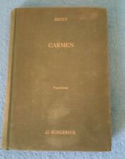 Carmen Vocal Score By Bizet