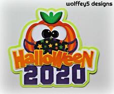 Craftecafe Halloween Title premade paper piecing scrapbook diecut piece page 3D