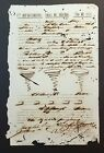 SPANISH COLONIAL DOCUMENT / FREE SLAVE WORK CONTRACT / PUERTO RICO 1873 #3