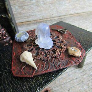 SET Witch miniature dollhouse room box item Halloween decor alchemy curiosities