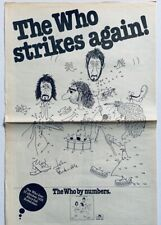 THE WHO 1975 DUTCH POSTER ADVERT BY NUMBERS John Entwistle Pete Townshend