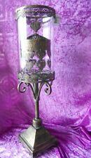 XL Metall Laterne orientalisch mit Karussell  Rotation Glas 59 cm Geschenk