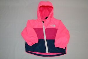 The North Face Infant Hooded Wind Rain Windbreaker Pink Navy ~ Baby 3-6 M